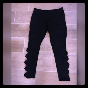 Black Victoria sport leggings with side detail